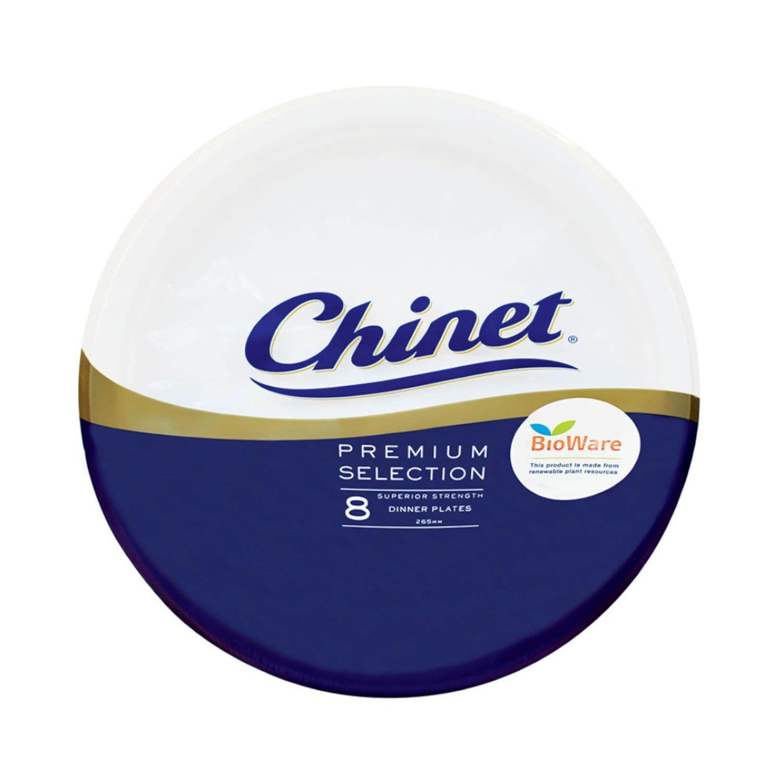 Chinet Bioware Round Plates, 8 Each