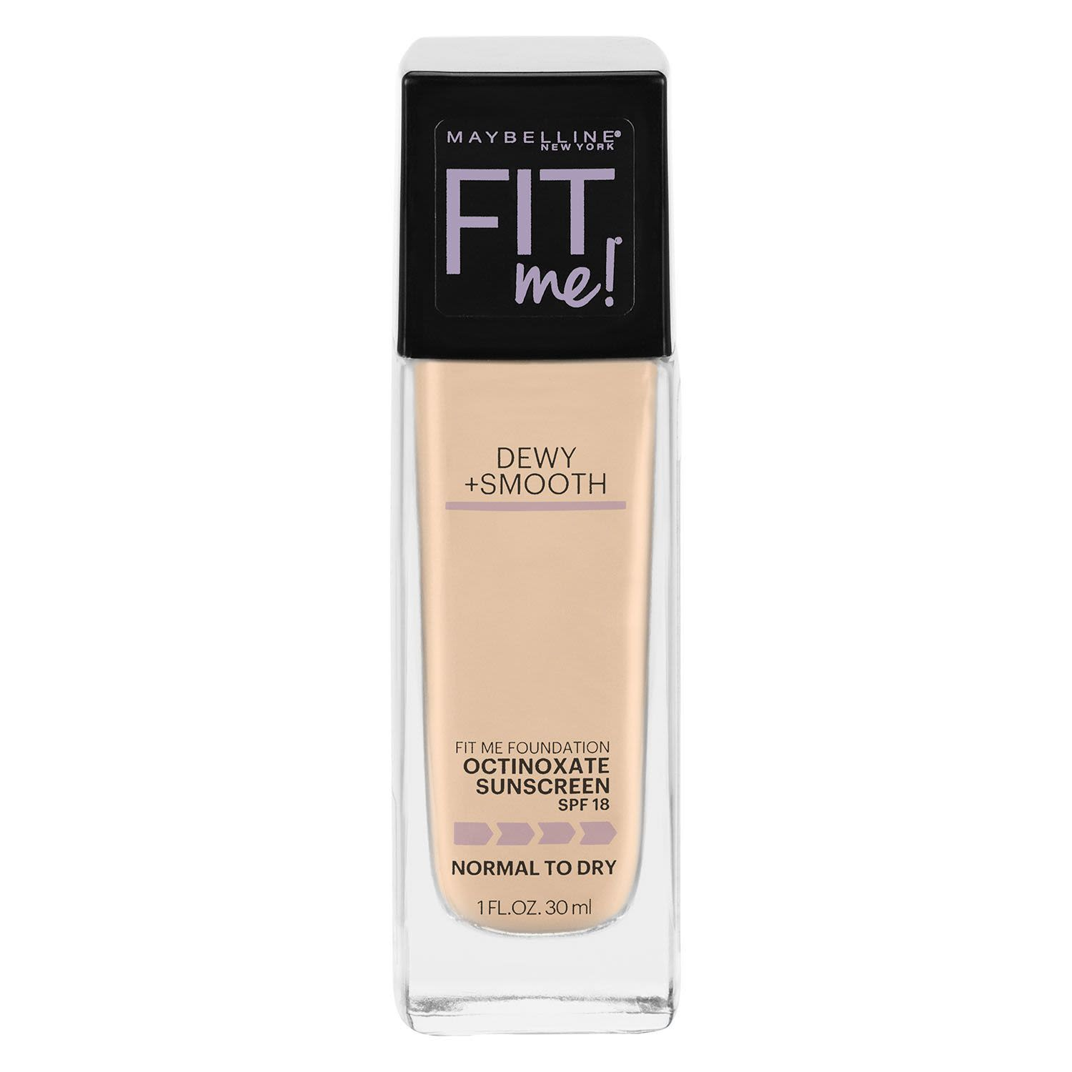 Maybelline Fit Me Dewy & Smooth Luminous Liquid Foundation Classic Ivory 120, 30 Millilitre
