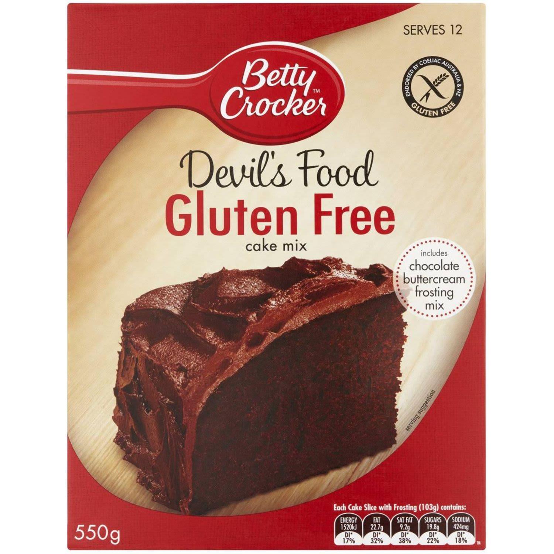 Betty Crocker Gluten Free Devils Food Cake Mix, 550 Gram