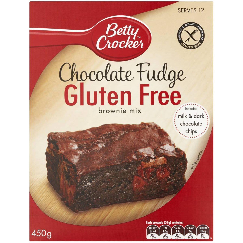 Betty Crocker Gluten Free Chocolate Fudge Brownie Mix, 450 Gram