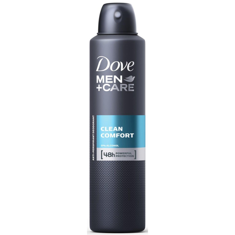 Dove Men Antiperspirant Aerosol Deodorant Clean Comfort, 254 Millilitre