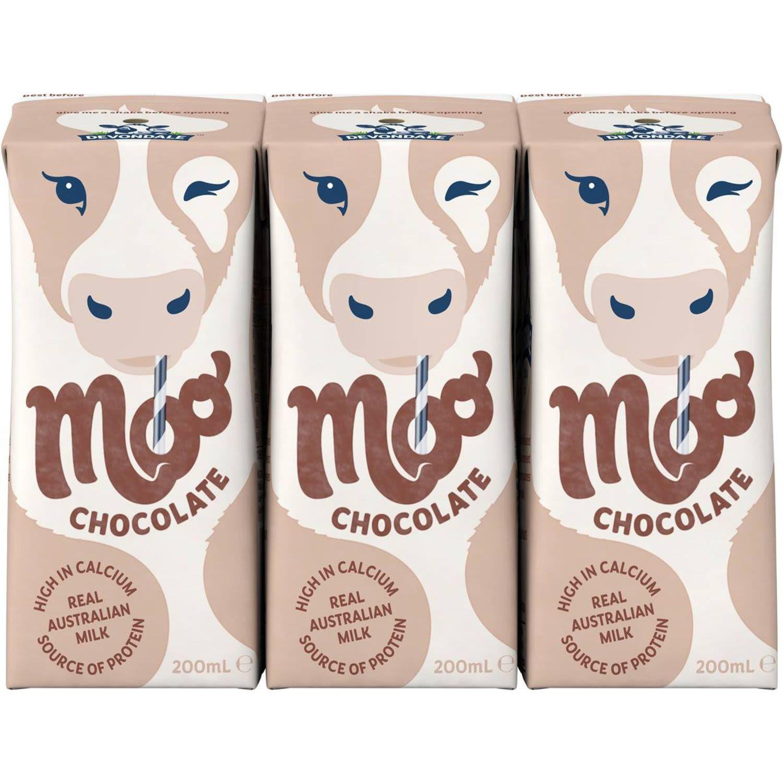 Devondale Moo Chocolate Milk, 6 Each