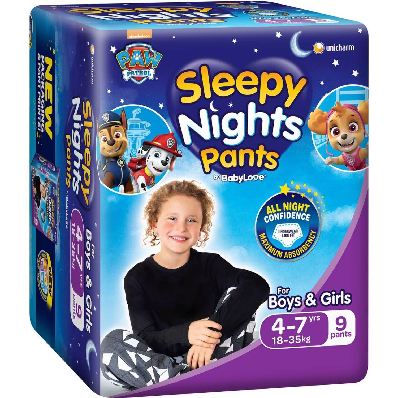 Babylove Sleepy Nights Overnight Pants, 9 Each