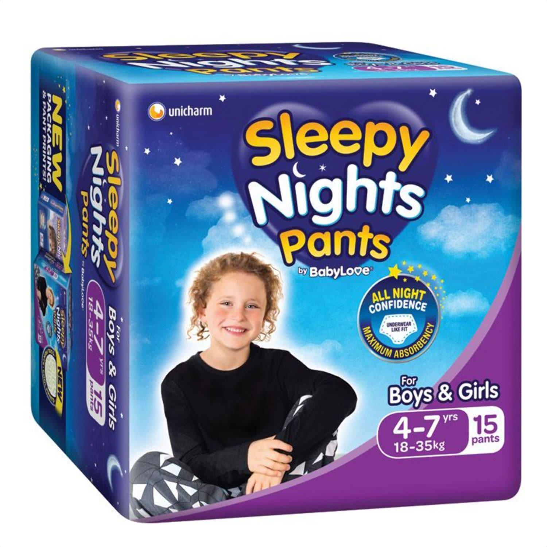 BabyLove Sleepy Nights 4-7 Years Overnight Pants, 15 Each