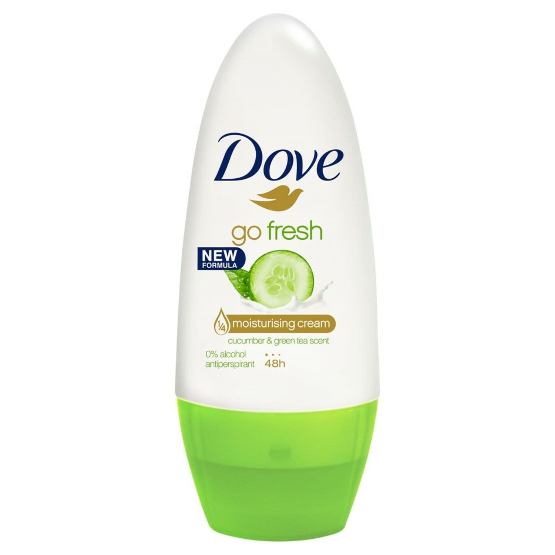 Dove Go Fresh Antiperspirant Roll On Deodorant Cucumber & Green Tea, 50 Millilitre