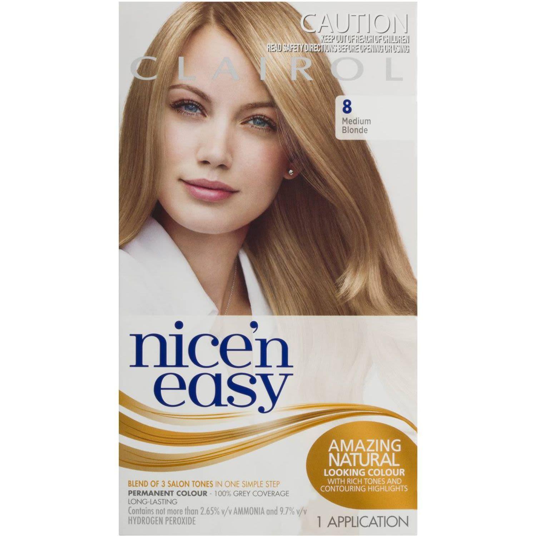 Clairol Nice N Easy Natural Medium Blonde 8, 1 Each