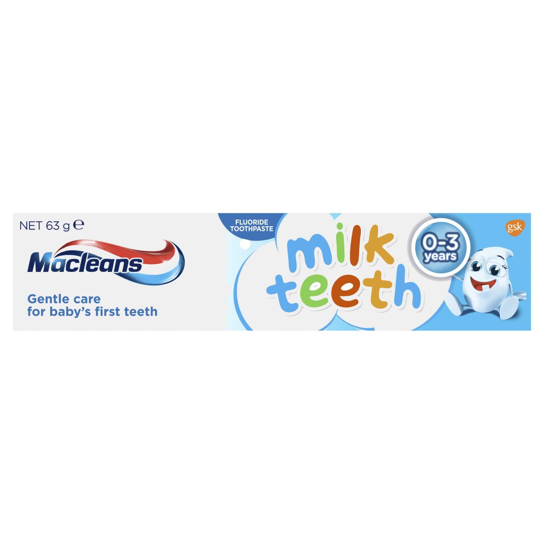 Maclean's Milk Teeth Fluoride Toothpaste for 0-3 years, 63 Gram