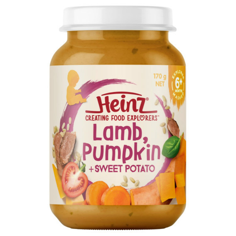Heinz Lamb Pumpkin & Sweet Potato Baby Food Jar 6+ Months, 170 Gram