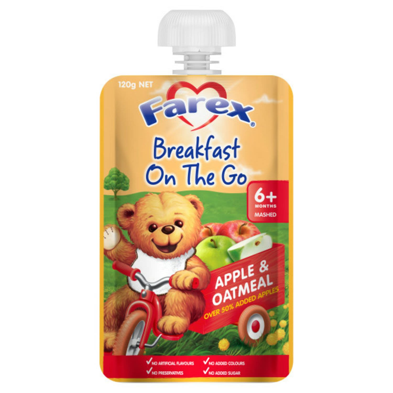 Farex® Breakfast On The Go Apple & Oatmeal 6+ Months, 120 Gram