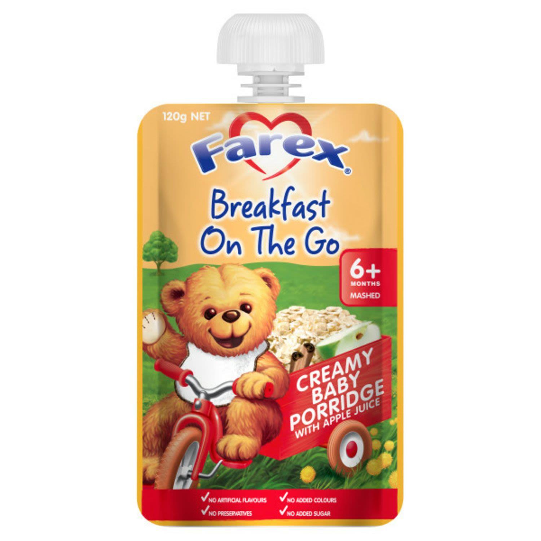 Farex Baby Breakfast To Go Creamy Baby Porridge, 120 Gram