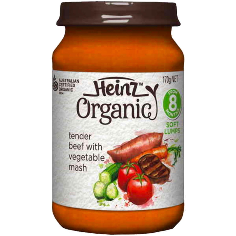 Heinz Organic Beef & Vegetable, 170 Gram