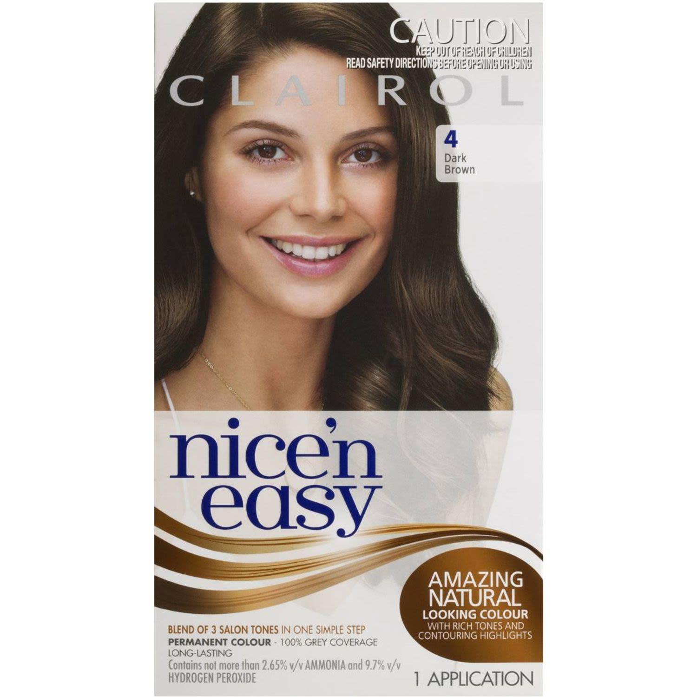 Clairol Nice N Easy Natural Dark Brown 4, 1 Each