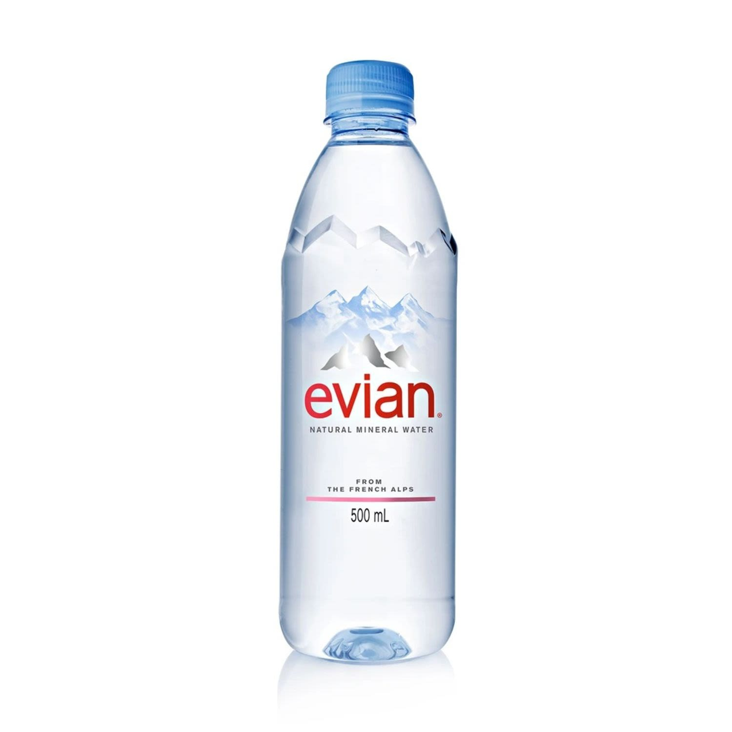 Evian Natural Mineral Water, 500 Millilitre