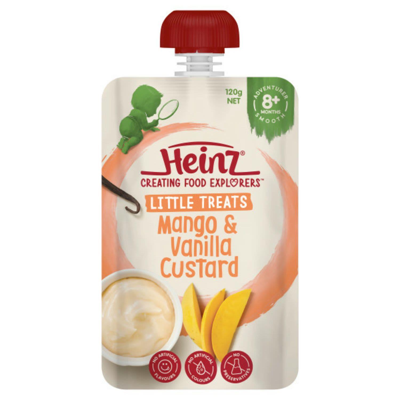 Heinz 8 Months+ Mango & Vanilla Custard, 120 Gram