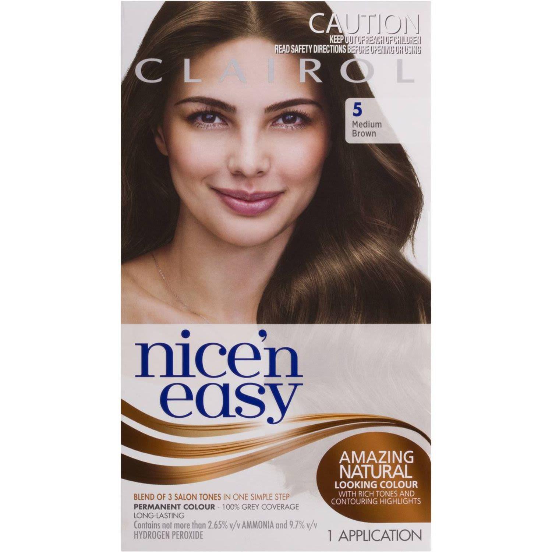 Clairol Nice N Easy Natural Medium Brown 5, 1 Each