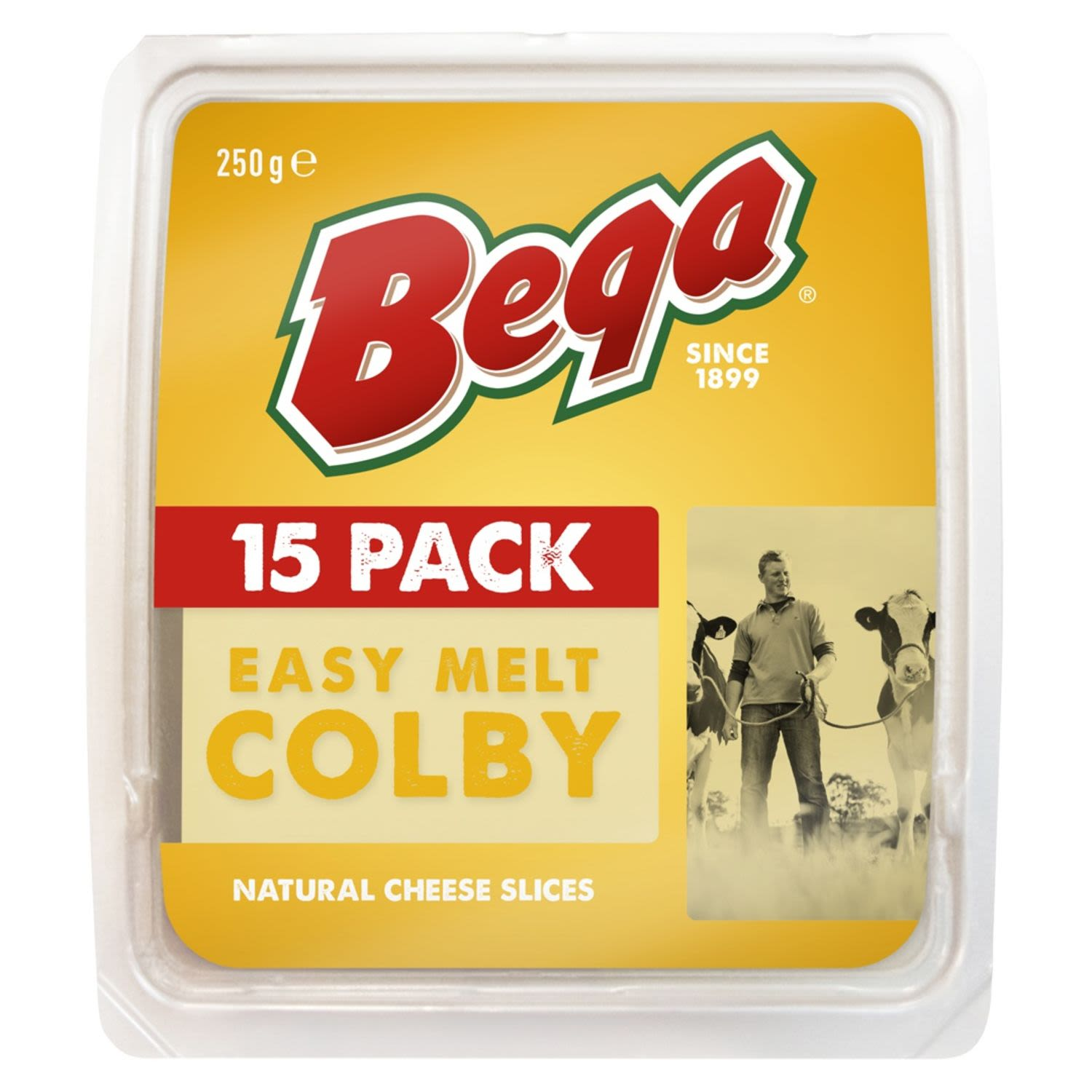 Bega Easy Melt Colby Natural Cheese Slices, 15 Each