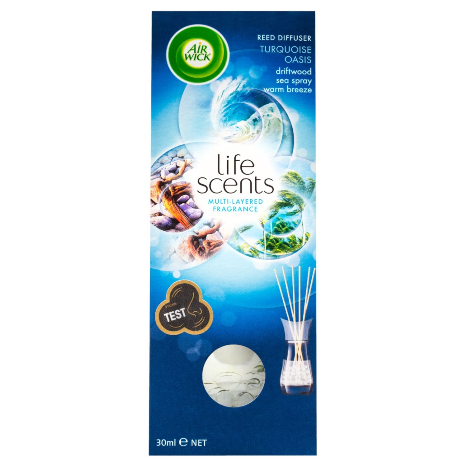 Air Wick Life Scent Reed Turquoise Oasis, 30 Millilitre