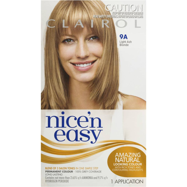 Clairol Nice N Easy Natural Light Ash Blonde 9A, 1 Each