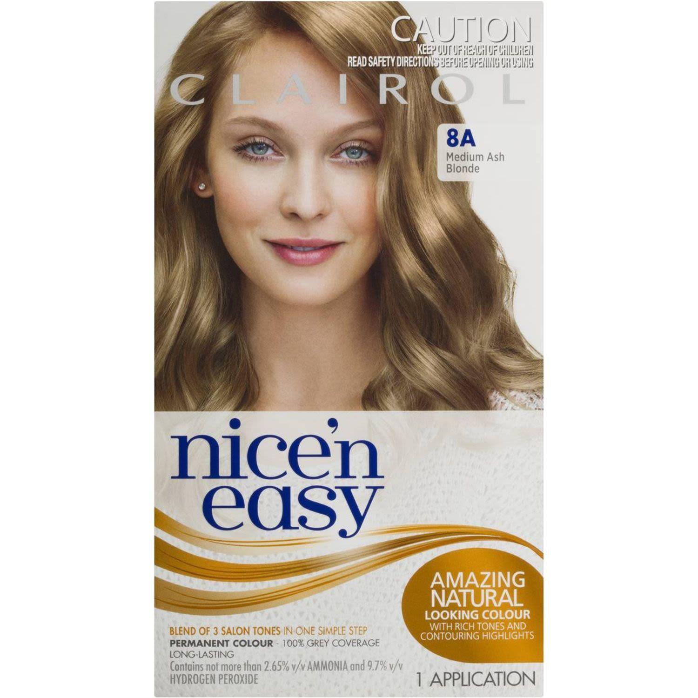 Clairol Nice N Easy Natural Medium Ash Blonde 8A, 1 Each