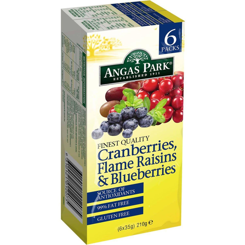 Angas Park Cranberry Raisin & Blueberry, 6 Each