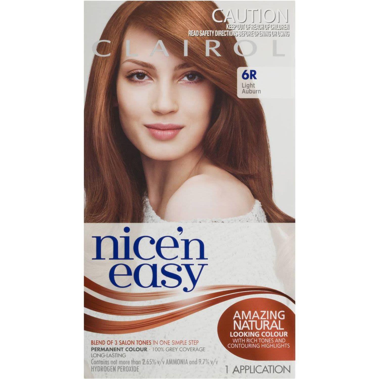 Clairol Nice N Easy Natural Light Auburn 6R, 1 Each