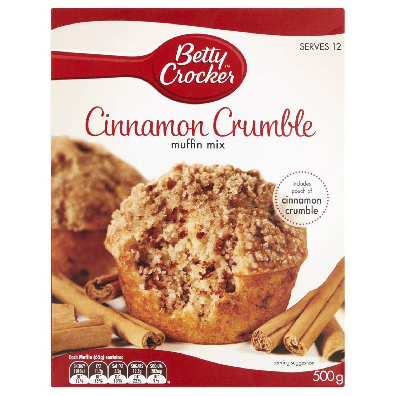 Betty Crocker Cinnamon Crumble Muffin Mix, 500 Gram