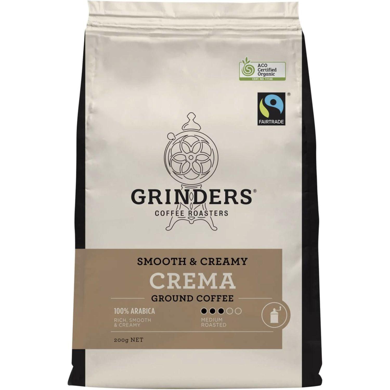 Grinders Ground Coffee Crema, 200 Gram