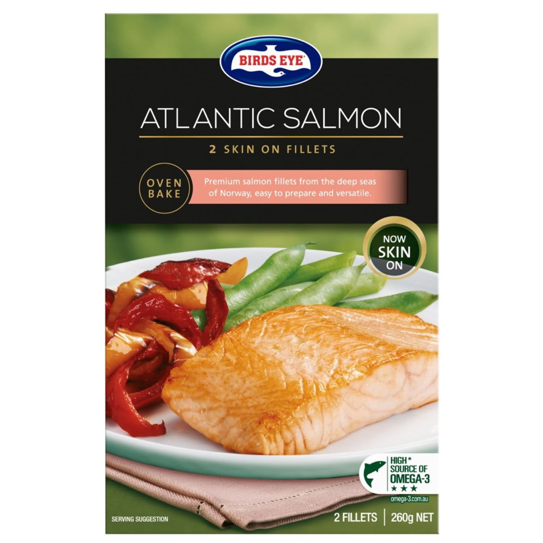 Birds Eye Fillets Natural Salmon, 260 Gram