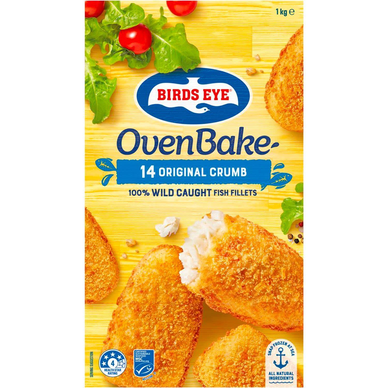 Birds Eye Oven Bake Original Crumb Fish, 1 Kilogram