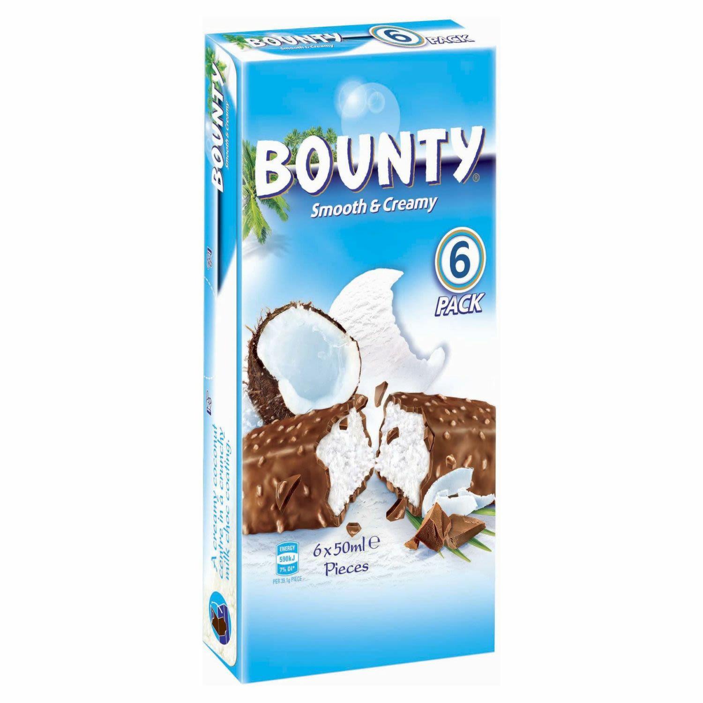 Bounty Ice Cream Bar, 6 Each
