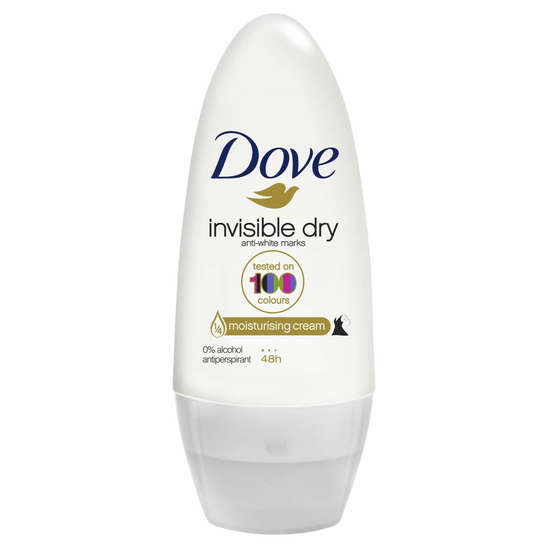 Dove Women Antiperspirant Roll On Deodorant Invisible Dry, 50 Millilitre