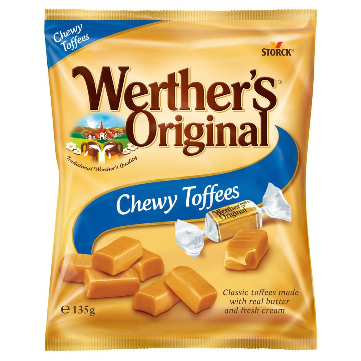 Werther's Original Chewy Toffees, 135 Gram