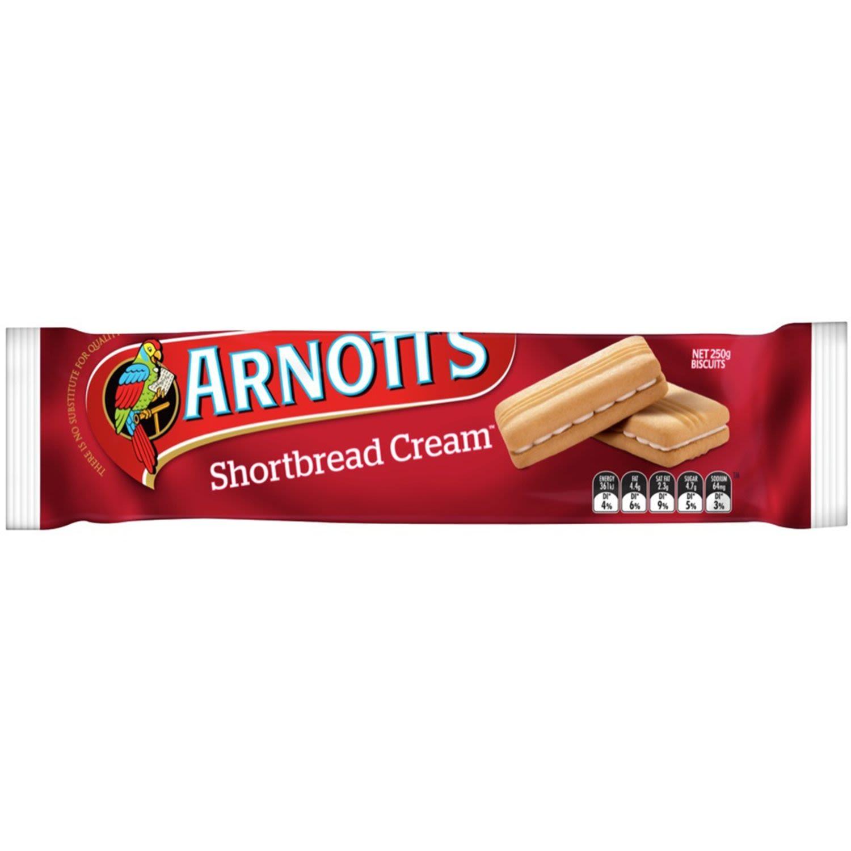 Arnott's Biscuits Shortbread Cream, 250 Gram