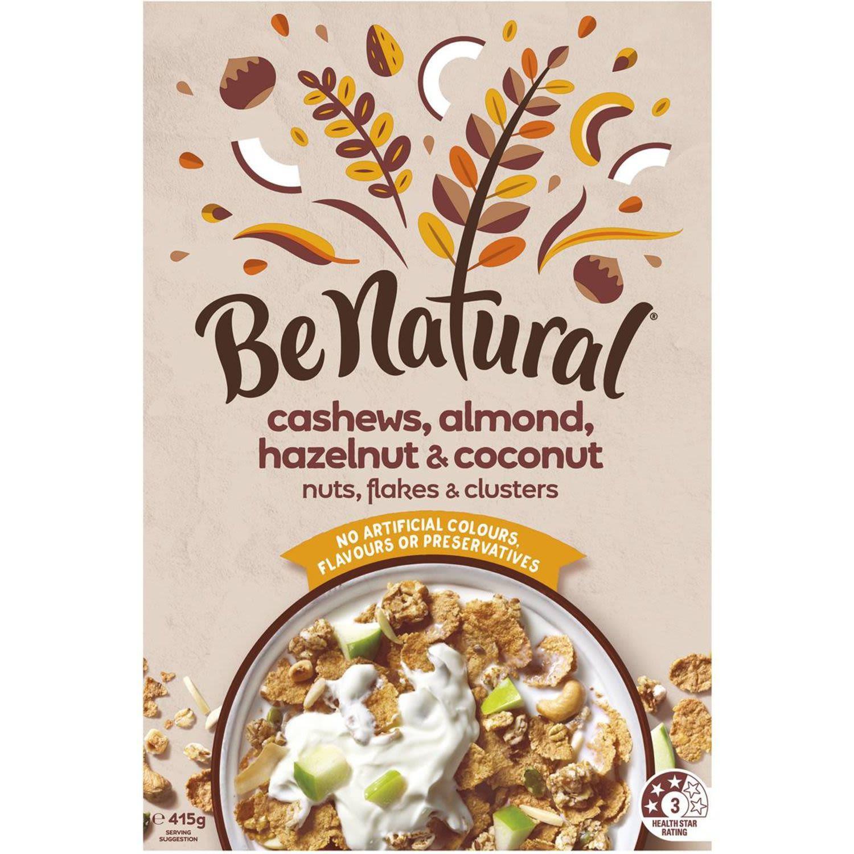 Be Natural Cashew, Almond, Hazelnut & Coconut, 415 Gram