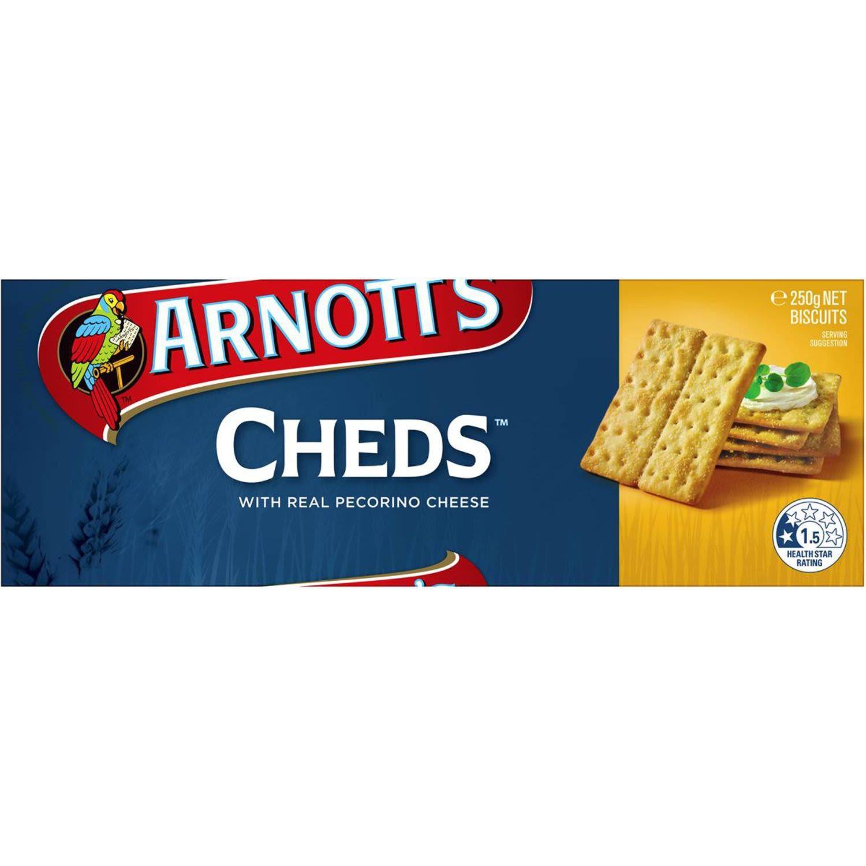 Arnott's Cheds, 250 Gram