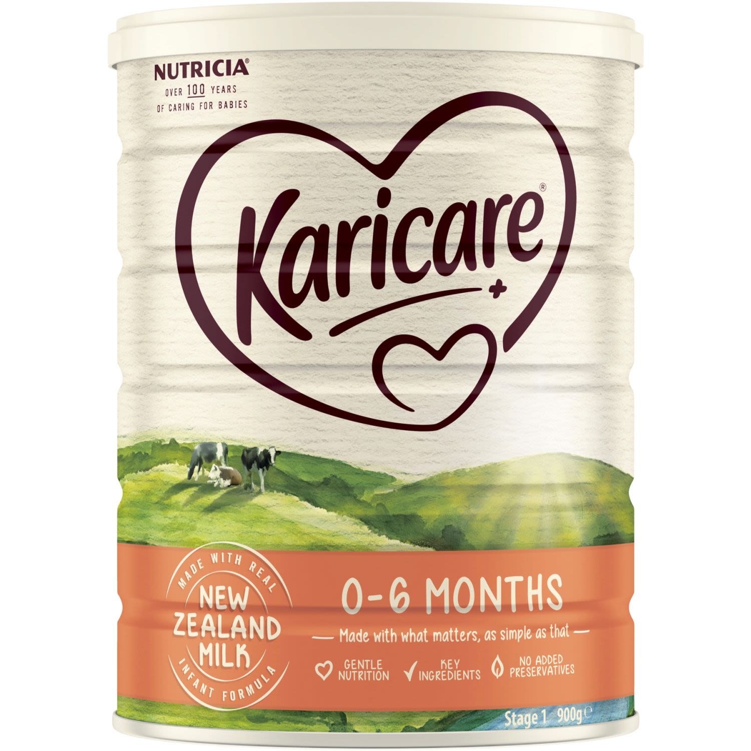 Karicare 1 Baby Infant Formula From Birth to 6 Months, 900 Gram