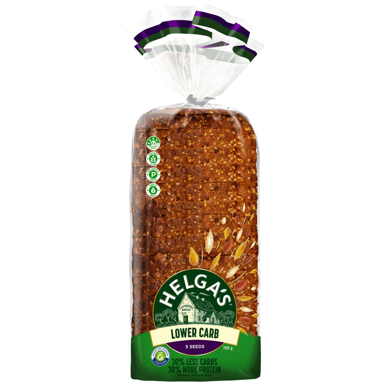 Helga's Lower Carb 5 Seeds Sliced Bread, 700 Gram