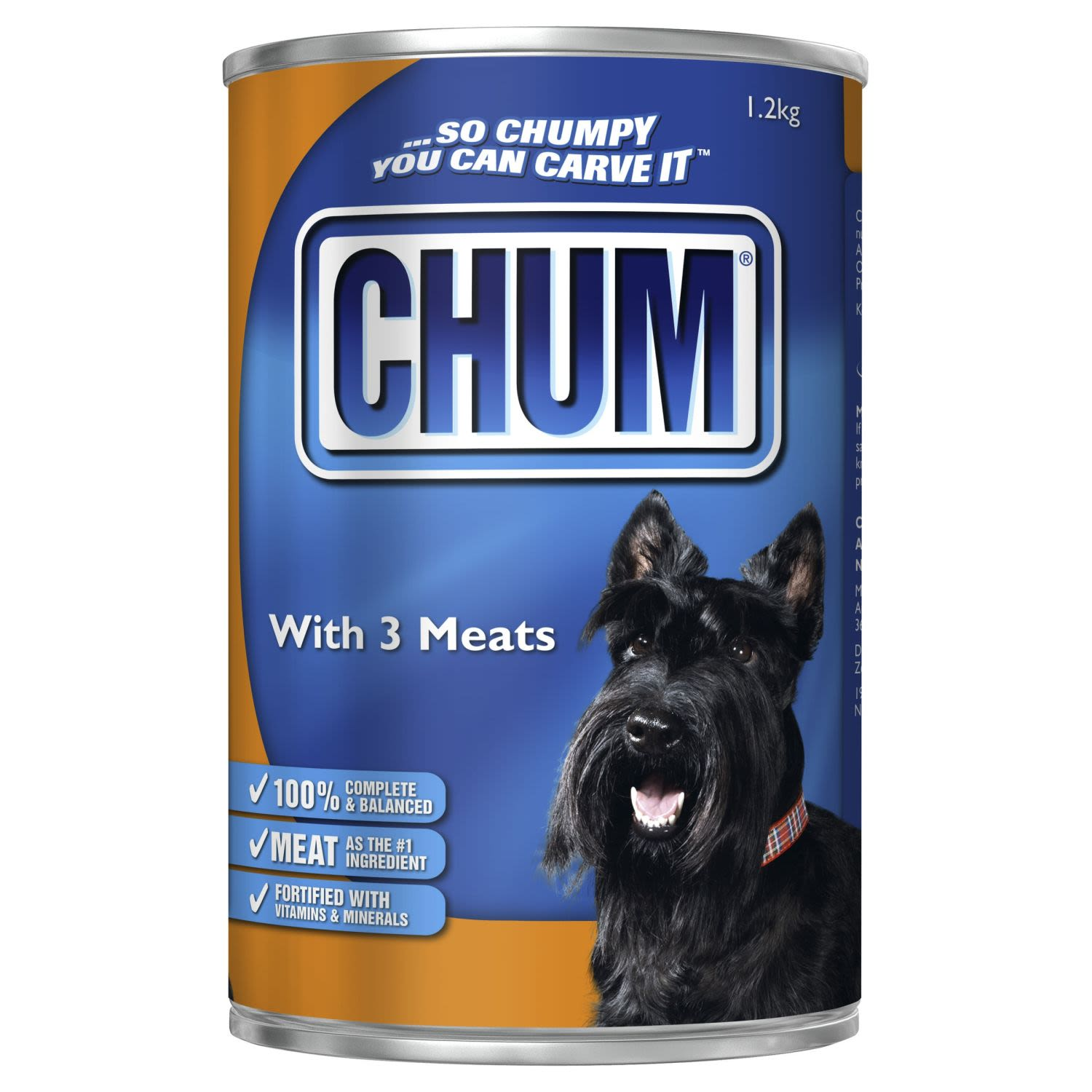 Chum with Three Kinds of Meat , 1.2 Kilogram