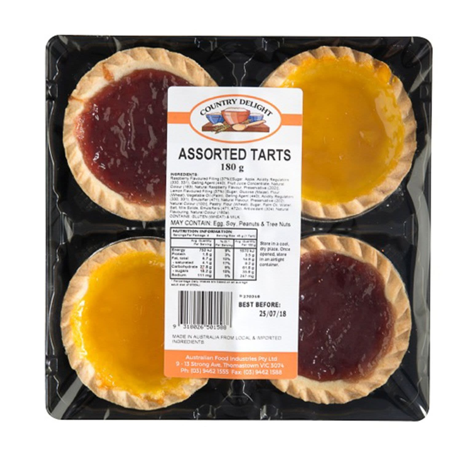Country Delights Assorted Jam Tarts, 4 Each
