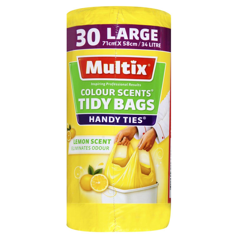 Multix Colour Scents Handy Ties Tidy Bags Large   Lemon Scent, 30 Each