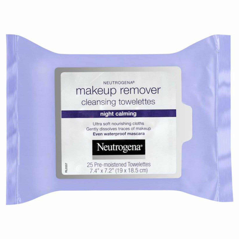 Neutrogena Night Calming Makeup Remover Facial Wipes, 25 Each