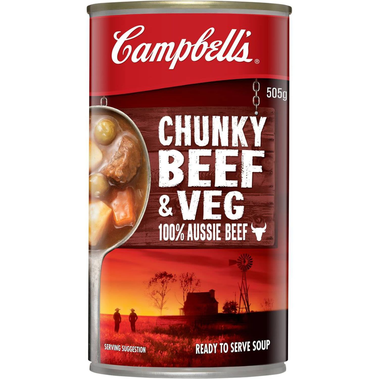 Campbell's Chunky Canned Soup Beef Hearty & Filling, 505 Gram