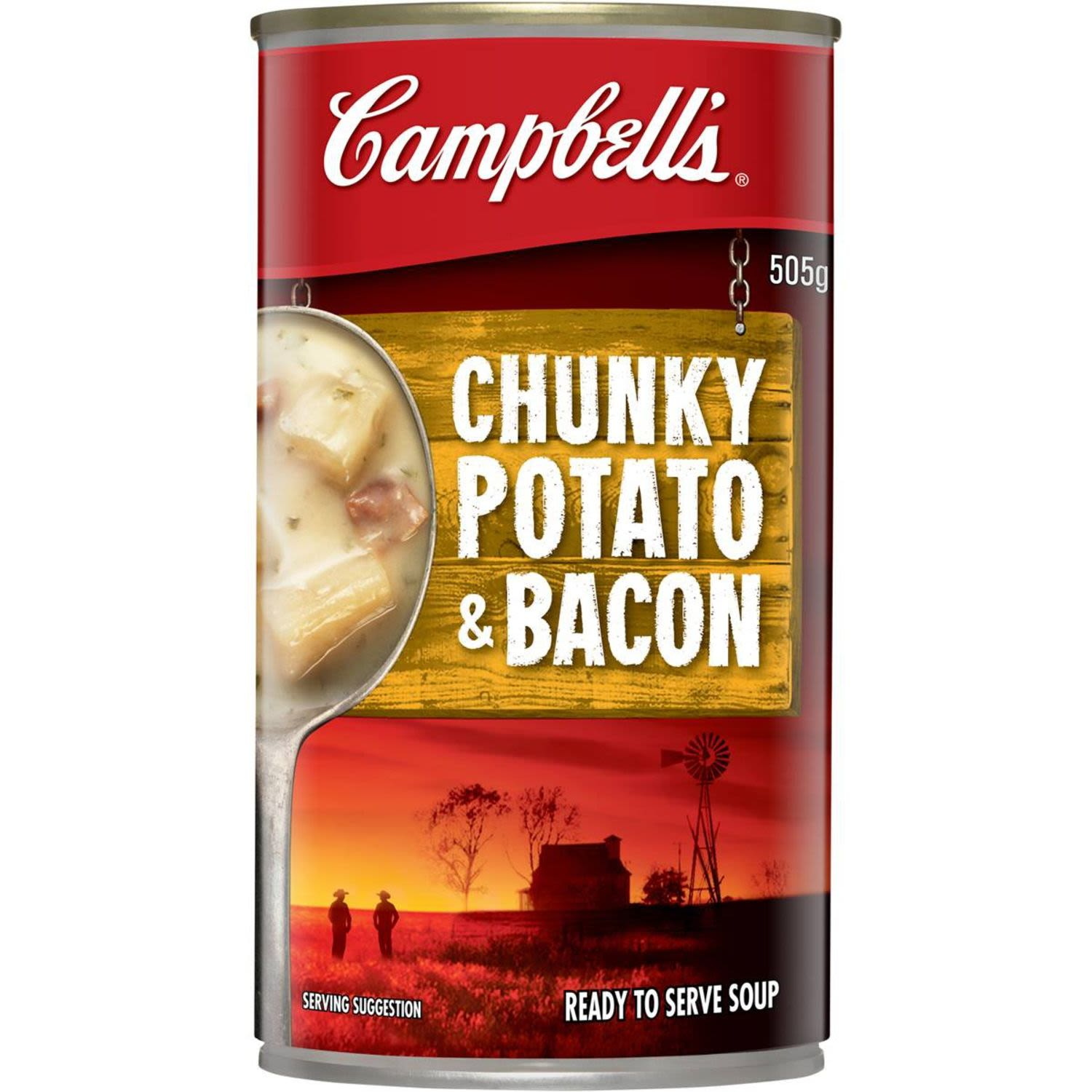 Campbell's Chunky Canned Soup Potato & Bacon, 505 Gram