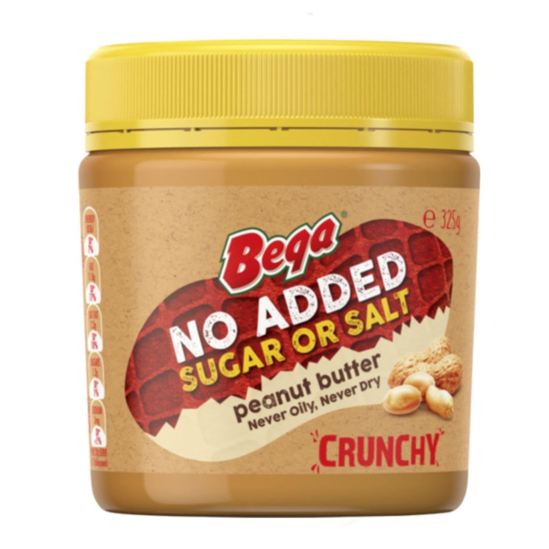 Bega Peanut Butter Crunch No Added Sugar Or Salt, 325 Gram
