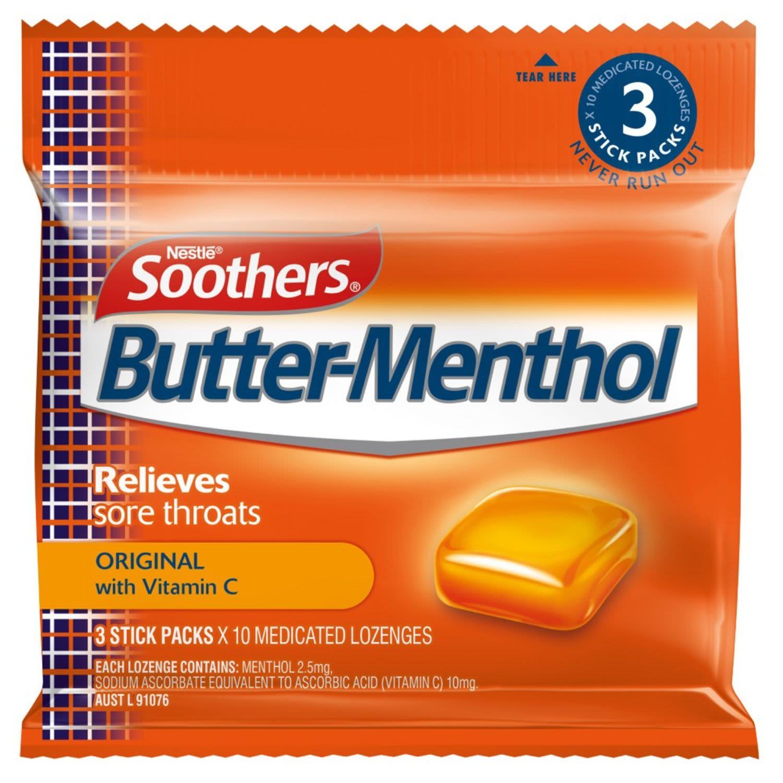 Allen's Butter-Menthol Throat Lozenge, 3 Each