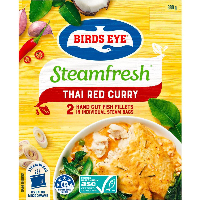 Birds Eye Fish Steam Red Curry, 2 Each