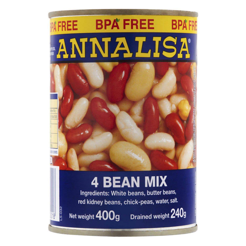 Annalisa 4 Beans Mix, 400 Gram