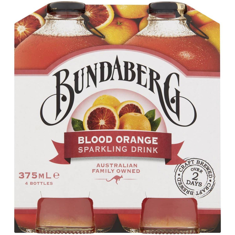 Bundaberg Sparkling Blood Orange Sparkling Drink, 4 Each