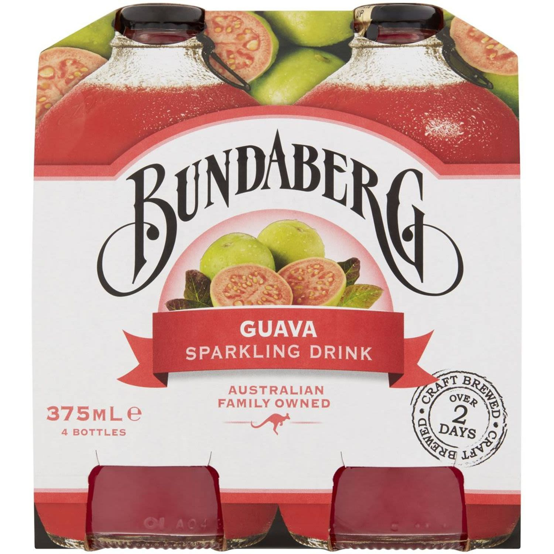 Bundaberg Sparkling Guava Sparkling Drink, 4 Each