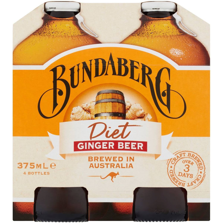 Bundaberg Diet Ginger Beer, 4 Each
